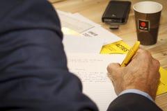 抗议信件文字 免版税库存图片