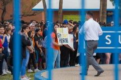 抗议图森的学生持枪暴力 库存图片