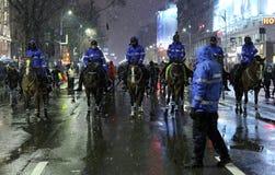 抗议在反对腐败的布加勒斯特 库存图片