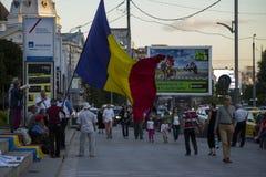 抗议在反对金矿的布加勒斯特 免版税库存图片