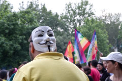 抗议在土耳其在2013年6月 库存图片