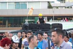 抗议在土耳其在2013年6月 库存照片