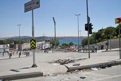 抗议在土耳其在2013年6月 免版税库存照片