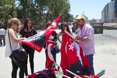 抗议在土耳其在2013年6月 免版税库存图片