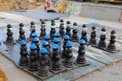 抗议在土耳其塔克西姆广场,塔克西姆广场, Atatà ¼ rk雕象 免版税库存图片