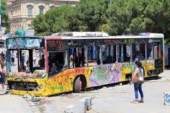 抗议在土耳其塔克西姆广场 库存图片