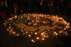 抗议在土耳其塔克西姆广场 免版税库存照片