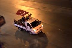 抗议在土耳其,伊斯坦布尔 免版税库存照片