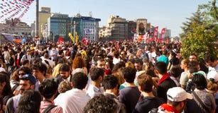 抗议在土耳其 免版税库存照片