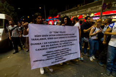 抗议在土耳其 免版税库存图片