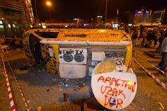 抗议在土耳其 库存照片