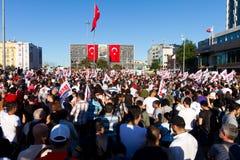 抗议在土耳其 免版税图库摄影