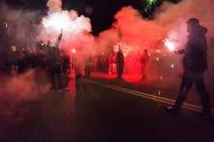 抗议在布加勒斯特 免版税库存照片