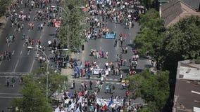 抗议在智利 股票录像