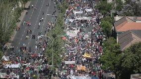 抗议在智利 股票视频