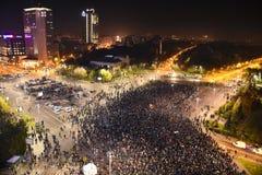 抗议在正义的布加勒斯特 免版税库存图片
