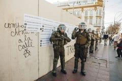 抗议在瓦尔帕莱索 免版税图库摄影