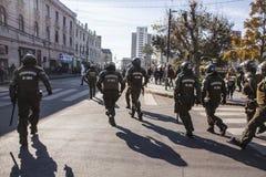 抗议在瓦尔帕莱索 免版税库存图片
