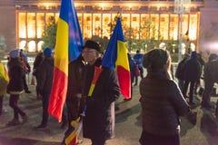 24 01 2018抗议在罗马尼亚 库存图片