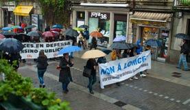 抗议在西班牙 库存图片