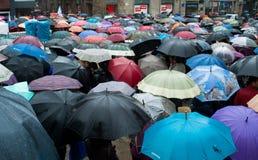 抗议在西班牙 免版税库存照片