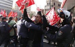 抗议在西班牙011 免版税库存图片