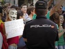抗议在西班牙023 免版税库存图片