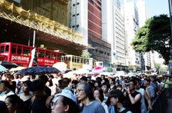 抗议在香港 图库摄影