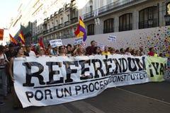 抗议在马德里 图库摄影