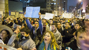 抗议在巴西 图库摄影
