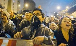 抗议在巴西 免版税图库摄影