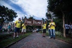 抗议在巴西 免版税库存照片