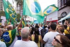 抗议在巴西 免版税库存图片