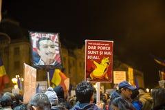 抗议在Romaia 库存照片