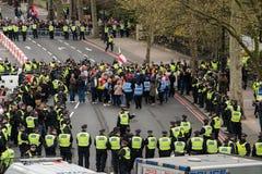 抗议游行-伦敦,英国 免版税库存照片