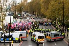 抗议游行-伦敦,英国 免版税图库摄影