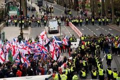 抗议游行-伦敦,英国 库存图片
