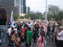 132抗议游行 免版税库存照片