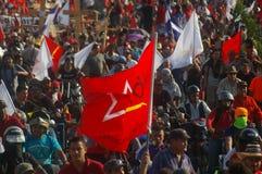 抗议游行agaist胡安奥兰多埃尔南德斯第1月12日2018 26 库存照片