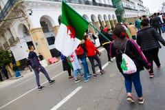 抗议的一少女 免版税库存图片