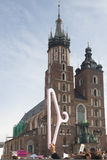 黑抗议的标志反对堕胎禁令的在波兰 库存照片