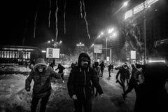 抗议罗马尼亚 免版税库存照片