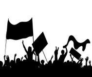 抗议者举行罢工的暴乱工作者   免版税库存图片