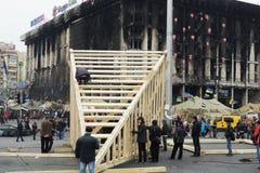 抗议者修建纪念碑 免版税库存照片