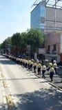 抗议者在墨西哥城,墨西哥 免版税库存照片