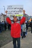 抗议者在布加勒斯特 库存照片