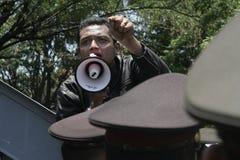 抗议银行顾客 免版税库存图片