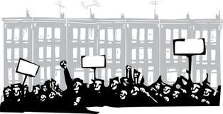 抗议巴尔的摩 库存例证