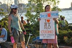 抗议fracking 免版税库存图片