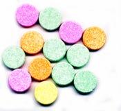 抗酸五颜六色的片剂 免版税库存图片